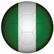 Nigeria Football Flag 25mm Button Badge